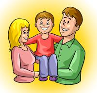 dziecko i rodzice