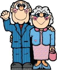 Znalezione obrazy dla zapytania obrazki babcia i dziadek