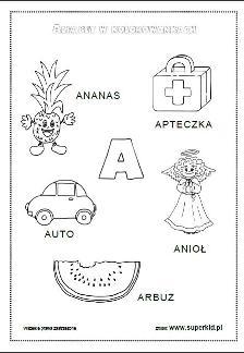 Alfabet W Kolorowankach Superkid