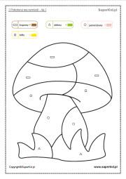 ćwiczenia Pokoloruj Wg Symboli Superkid