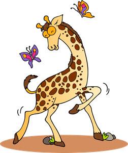 Zwierzę Miesiąca żyrafa Superkid