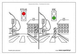 Znalezione obrazy dla zapytania kolorowanki ruch drogowy