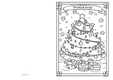 front i tył kartki świątecznej