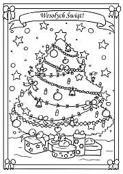 Kolorowanki Kartki świąteczne Boże Narodzenie Superkid