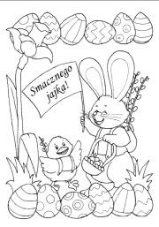 Kolorowanki Kartki Swiateczne Wielkanoc Superkid