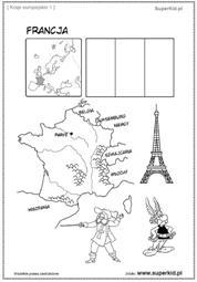 Kolorowanka Mapa Francji Malarz Kolorowanki Dla Dzieci Do Druku