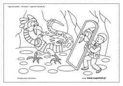 kolorowanki - Legenda o Bazyliszku
