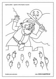kolorowanki - O Królu Popielu i myszach
