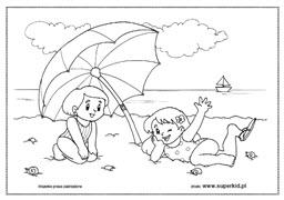 Kolorowanki Lato I Wakacje Superkid