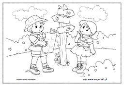 Sciagnij Bezpieczne Wakacje Kolorowanki Do Wydruku Kolorydladzieci