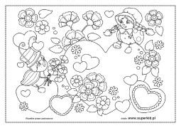 Kolorowanki Walentynki Superkid