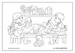 Kolorowanki Dzieci Lubia Sie Bawic Superkid