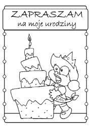 Kolorowanki Zaproszenia Urodzinowe Superkid