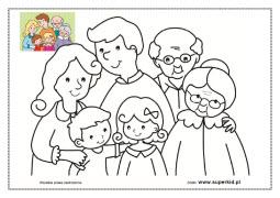 Kolorowanki Rodzina Superkid
