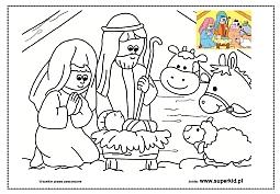 Kolorowanki święta Bożego Narodzenia Superkid