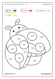 Kolorowanki Matematyczne Elementarzowe 1 15 Superkid