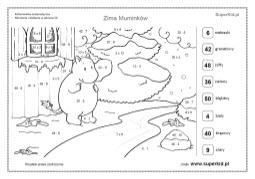 Kolorowanki Matematyczne Motywy Od 21 Do 30 Superkid